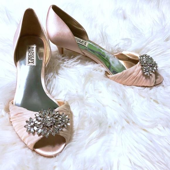 06cc574543 Badgley Mischka Shoes | Sabine Peep Toe Kitten Heels | Poshmark